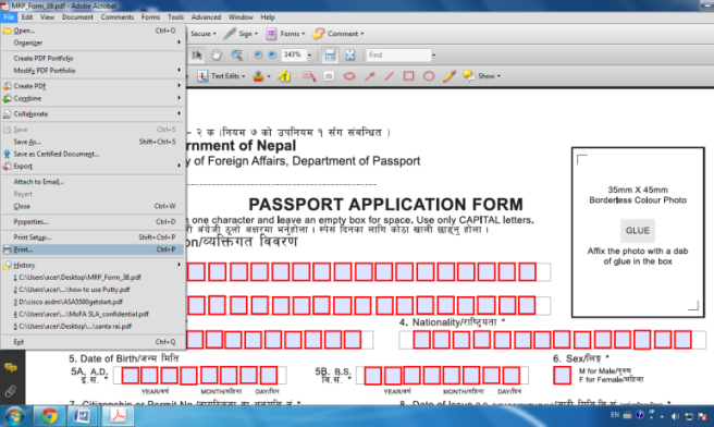 guidelines on attaching documents to an online visa application